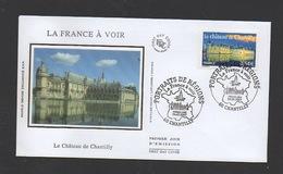 DF / FDC DU TP 4018 LE CHÂTEAU DE CHANTILLY / OBL. PREMIER JOUR CHANTILLY 24.02.2007 - Lettres & Documents