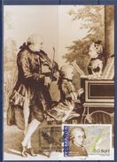 = Wolfgang Amadeus Mozart Carte Postale 1er Jour Bucarest 27.1.2006 Au Piano, Concert En Famille - Maximumkarten (MC)
