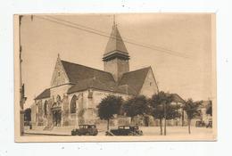 Cp , Automobiles , Voitures De Tourisme ,  10 , SAINTE SAVINE , L'église , Ed : Magasins Réunis De Troyes - Passenger Cars