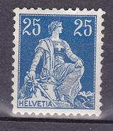 """N° 120 Helvétia """" Debout """" 25cBleu  Timbre Neuf Avec Une Infime Trace De Charnière - Svizzera"""