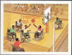 Antigua & Barbuda 1981 Yvertn° Bloc 59 *** MNH Cote 7,50 Euro L' Année Des Handicapés Sport - Antigua Et Barbuda (1981-...)