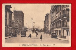 1 Cpa Becon Les Bruyeres Rue Edgar Quinet - France