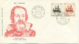 ITALIA - FDC FILAGRANO 1964 - GALILEO GALILEI - ASTRONOMIA - ANNULLO MILANO - 6. 1946-.. Repubblica