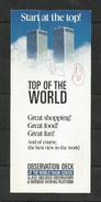 USA NEW YORK WORLD TRADE CENTER BROCHURE Bulletin Leaflet Pamphlet - Dépliants Touristiques