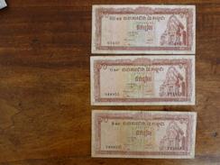 3 BILLETS CAMBODGE - Cambodia