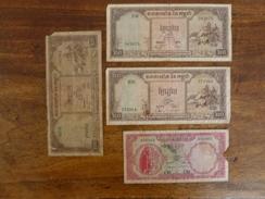 4 BILLETS CAMBODGE - Cambodia