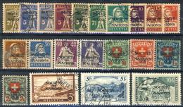 Société De Nations  1924 - 37 Serie 46-61A (21 Valori Usati, Senza Alcun Difetto) Cat. € 950 - Servizio