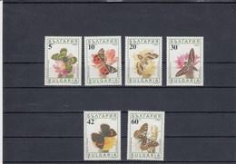 Bulgarie - Neufs - Année 1990 - Papillons Divers - YT 3324/3329