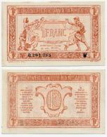 TRESORERIE AUX ARMEES // 1919 // Un Franc // Série W - Treasury