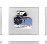 Pin´s  Sport  Cyclisme  TOUR  DE  FRANCE  90  Avec  Les  Assurances  A G F  Verso  SNCF  Voir  Description - Cyclisme
