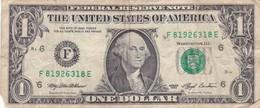 STATI UNITI  1 DOLLAR FEDERAL RESERVE  1993 BANCONOTA CIRCOLATA - Billetes De La Reserva Federal (1928-...)