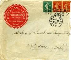 FRANCE 1916  Enveloppe Mazamet - Adria Rovigo Italia  Filtration Des Eaux - Francia