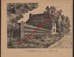 76 LE HAVRE - SAINTE-ADRESSE -- Ferme De La Hève En 1923 _ Gravure.