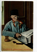 C 19319   -  Westfälische Bauerntypen  -  Feierabend - Journal, Pîpe, Blague à Tabac  -   Allemagne - Europe