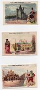 Chromo Chocolat Poulain Paris à Travers Les âges L'hôtel De Cluny La Tour Du Temple Saint Germain L'Auxerrois (3 Chromos - Poulain