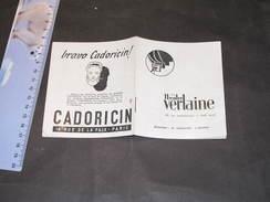 PARIS THEATRE VERLAINE Rue Rochechouart - Programme 1944/45 LE BAL DES POMPIERS Cie Claude DAUPHIN - Programmes