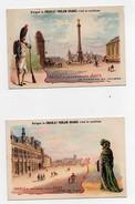 Chromo Chocolat Poulain Paris à Travers Les âges L'Hôtel De Ville La Fontaine Du Palmier (2 Chromos) - Poulain
