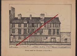76 LE HAVRE -- Maison Natale De Bernardin De Saint-Pierre En 1825 _ Raffinerie De Sucre _ Gravure.