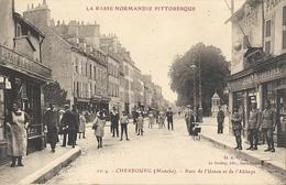 CPA Cherbourg La Rue De L'Union Et De L'Abbaye - Cherbourg