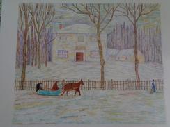 La Vieille Maison Holton à Montréal.D'après James Wilson Morrice.425 X 325 Mm.Acrylique Sur Papier Par Debeaupuis - Acryliques