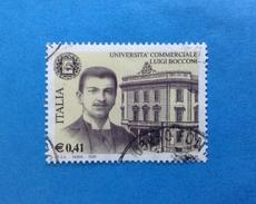 2002 ITALIA FRANCOBOLLO USATO STAMP USED - SCUOLE D'ITALIA UNIVERSITA' BOCCONI - - 6. 1946-.. Repubblica