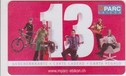 GIFT CARD - SWITZERLAND - MIGROS 227. - 13 MPARC EBIKON - Gift Cards