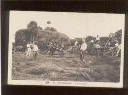 19 En Corrèze La Fenaison édit. Hirondelle N° 49 Animée Agriculture Attelage - France