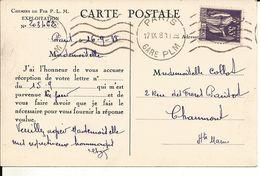 CHEMIN DE FER P.L.M. EXPLOITATION -- N°203462  -- 1938 -- - Trains