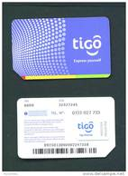 RWANDA  -  Mint/Unused SIM Chip Phonecard Tigo As Scan (stock Scan)