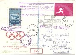 1960 Jeux De Rome :Pologne :vol Olympique.