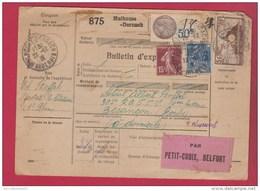 Colis Postal   //   De Mulhouse Dornach  //  Pour Besancon  //  22/12/31