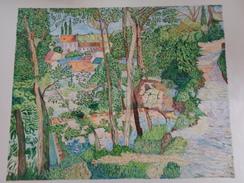 Chemin Montant à L'Hermitage.D'après Camille Pissaro.la Feuille:560 X 458 Mm.Acrylique Sur Papier Par Debeaupuis.1975 - Acryliques