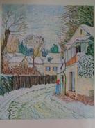 Route à Louveciennes.D'après Alfred Sisley.la Feuille:505 X 448 Mm.Acrylique Sur Papier Par Debeaupuis.1978 - Acryliques
