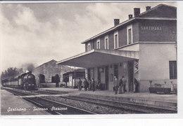 CARD SARTIRANA TRENO IN ARRIVO STAZIONE FERROVIARIA (PAVIA)  -FP-N -2-  0882-26865 - Stations With Trains