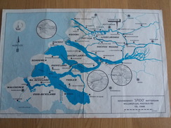 Kaart Zeeland - Havendienst Spido Rotterdam - Cartes Marines