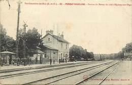 Ref -P712 - Essonne - Perray Vaucluse - Station Du Perray Cote Epinay Sur Orge - Gare - Gares - Lignes De Chemins De Fer - France