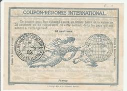 Coupon-réponse France Type Rome 1 - Oblitéré Rennes Central 1908 - Buoni Risposte