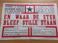 Affiche Poster - Toneel En Waar De Ster Bleef Stille Staan - Patronage Maldegem - Gilde - Affiches