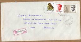 Enveloppe Cover Brief Aangetekend Registered Recommandé Herseaux - Belgique