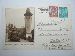 1939 , Bildganzsache Nach Berlin - 1931-1941 Kingdom Of Yugoslavia