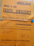 Affiche Poster - Groots Zomerfeest Gemeente Bellem - Affiches