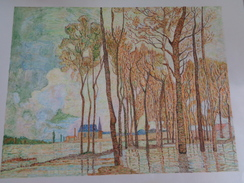 L'inondation à Argenteuil.D'après Claude Monet.feuille:570 X 434 Mm.Acrylique Sur Papier Par Debeaupuis.1975 - Acryliques