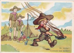 CPSM Scout Scoutisme Préparation Cuisine Humour Illustrateur - Scouting