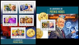 GUINEA BISSAU 2016 - Nobel Prize In Physics, M/S + S/S. Official Issue