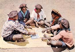 CPSM Dentelée Scout Scoutisme Coeurs Vaillants D'AFRIQUE Jeu De Société - Scouting
