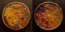 CHINA - RARE 10 CASH  COPPER - KIANGSI PROVINCE - REPUBLIC   CHINE - China
