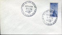 18128 San Marino, Special Postmark 1969  Philat. Exhibition Of Riccione, Showing A Helicopter
