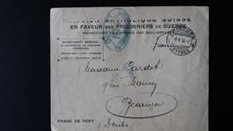 Lettre En Franc De Port De La Mission Catholique Suisse - WW I