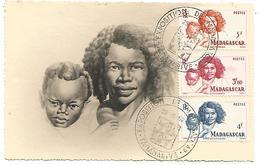 MADAGASCAR 1952 CARTE MAXIMUM UNE  MERE BETSIMISARAKA - Cartas