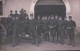 Armée Suisse, Bière Caserne, Canonniers Et Canon (23.2.15) - Weltkrieg 1914-18